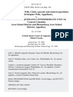 Polk, Ronald and Polk, Cindy, Parents and Natural Guardians of Christopher Polk v. Central Susquehanna Intermediate Unit 16, Central Columbia Area School District and Bloomsburg Area School District, 853 F.2d 171, 3rd Cir. (1988)