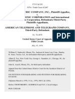 Western Electric Company, Inc. v. Milgo Electronic Corporation and International Communications Corporation, Defendants-Third-Party v. American Telephone and Telegraph Company, Third-Party, 573 F.2d 255, 3rd Cir. (1978)