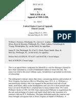 Jones v. Miller Appeal of Miller, 203 F.2d 131, 3rd Cir. (1953)