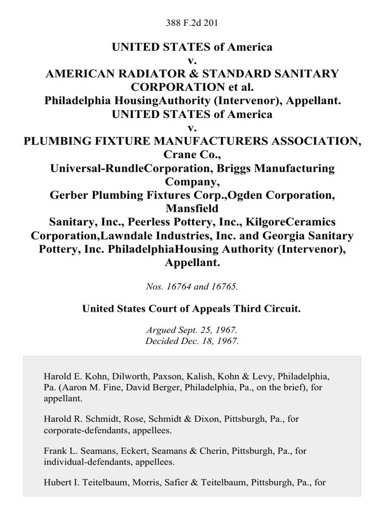 United States v. American Radiator & Standard Sanitary Corporation ...