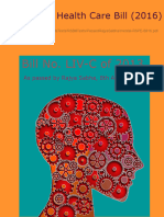 THE MENTAL HEALTH CARE BILL, 2016 Mental RSPE 8816