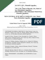 James Talcott, Inc. v. Allahabad Bank, Ltd., Bank of Baroda, Ltd., Bank of Tokyo, City Trade & Industries, Ltd., Defendant-Third-Party v. New Central Jute Mills Company, Ltd., Third-Party, 444 F.2d 451, 3rd Cir. (1971)