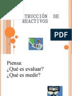 CONSTRUCCIÓN  DE REACTIVOS
