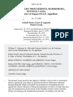 In Re Grand Jury Proceedings, Harrisburg, Pennsylvania. In the Matter of Joques Egan, 450 F.2d 199, 3rd Cir. (1971)