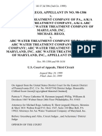 Michael Rego, in No. 98-1386 v. Arc Water Treatment Company of Pa., A/K/A Arc Water Treatment Company, A/K/A Arc Company Arc Water Treatment Company of Maryland, Inc. Michael Rego v. Arc Water Treatment Company of Pa., A/K/A Arc Water Treatment Company, A/K/A Arc Company Arc Water Treatment Company of Maryland, Inc. Arc Water Treatment Company of Maryland, Inc., in No. 98-1616, 181 F.3d 396, 3rd Cir. (1999)