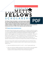 palmetto fellows scholarship
