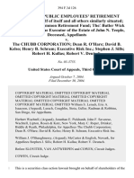 California Public Employees' Retirement System, on Behalf of Itself and All Others Similarly Situated New York State Common Retirement Fund the Butler Wick Trust Company, the of the Estate of John N. Teeple, Deceased v. The Chubb Corporation Dean R. O'Hare David B. Kelso Henry B. Schram Executive Risk Inc. Stephen J. Sills Robert H. Kullas Robert v. Deutsch, 394 F.3d 126, 3rd Cir. (2004)