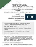 Norris P. Hebert, Sr., John C. Wirick, Iv, John C. Wirick, IV Ronald Vidallia, Defendants-Third Party Indian Nations Insurance Company, Intervenor v. United States of America, Third Party, 438 F.3d 483, 3rd Cir. (2006)