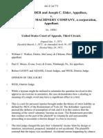 Nancy E. Elder and Joseph C. Elder v. Crawley Book MacHinery Company, a Corporation, 441 F.2d 771, 3rd Cir. (1971)