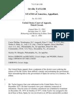 Orville Taylor v. United States, 711 F.2d 1199, 3rd Cir. (1983)