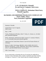 Arthur W. Sturgeon, Aetna Casualty and Surety Company, Intervenor v. Strachan Shipping Company, Defendant-Third Party v. Bankers and Shippers Insurance Company of New York, Third Party, 731 F.2d 255, 3rd Cir. (1984)