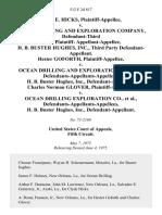 Clyde E. Hicks v. Ocean Drilling and Exploration Company, Defendant-Third Party Plaintiff- Appellant-Appellee, H. B. Buster Hughes, Inc., Third Party Hester Goforth v. Ocean Drilling and Exploration Co., Defendants-Appellants-Appellees, H. B. Buster Hughes, Inc., Charles Norman Glover v. Ocean Drilling Exploration Co., Defendants-Appellants-Appellees, H. B. Buster Hughes, Inc., 512 F.2d 817, 3rd Cir. (1975)