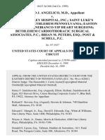 Richard J. Angelico, M.D. v. Lehigh Valley Hospital, Inc. Saint Luke's Hospital of Bethlehem Pennsylvania Easton Hospital Panebianco-Yip Heart Surgeons Bethlehem Cardiothoracic Surgical Associates, P.C. Brian M. Peters, Esq. Post & Schell, P.C, 184 F.3d 268, 3rd Cir. (1999)