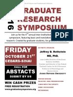 2016 Graduate Research Symposium