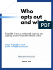 Opt Out National Survey Final Full Report