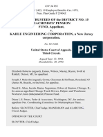 Board of Trustees of the District No. 15 MacHinists Pension Fund v. Kahle Engineering Corporation, a New Jersey Corporation, 43 F.3d 852, 3rd Cir. (1994)