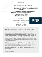 C & K Coal Company v. Virginia Taylor, Widow of William Taylor, Lamp Coal Company, Old Republic Insurance Company, and Director, Office of Workers' Compensation Programs, United States Department of Labor, 165 F.3d 254, 3rd Cir. (1999)