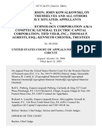 Thomas Pearson John Kowalkowski, on Behalf of Themselves and All Others Similarly Situated v. Component Technology Corporation A/K/A Comptech General Electric Capital Corporation Tifd Viii-R, Inc. Thomas P. Agresti, Esq. Kenneth Chestek, Trustees, 247 F.3d 471, 3rd Cir. (2001)