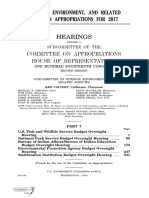 HOUSE HEARING, 114TH CONGRESS - INTERIOR, ENVIRONMENT, AND RELATED AGENCIES APPROPRIATIONS FOR 2017