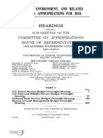 HOUSE HEARING, 114TH CONGRESS - INTERIOR, ENVIRONMENT, AND RELATED AGENCIES APPROPRIATIONS FOR 2016