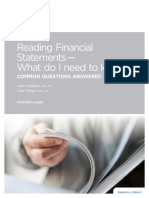 Reading Financial Statements - What Do I Need to Know
