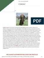 Cerdic - Ancient History Encyclopedia