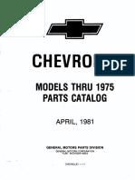 Manual de partes clásicas Chevrolet