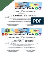 Cert Sci Fair 2016