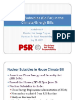 Nuclear Subsidies in the Climate/Energy Bill