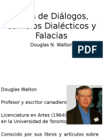 Tipos de Diálogos, Cambios Dialécticos y Falacias