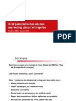 Panorama Des Etudes Marketing