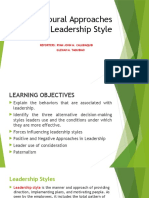 Behaviors of Leadership
