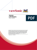 ViewSonic TD2220 LCD Display User Guide