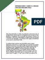 Actuales Contribuciones Sobre El Origen y Civilización Abya Yala