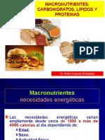 Nutrición Clínica - Macronutrientes, Carbohidratos, Lípidos y Proteinas