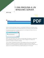 Agregar Una Maquina a Un Dominio Windows