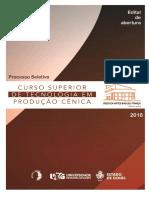 Edital PS Curso Superior de Tecnologia Em Producao Cenica 2016 FINAL