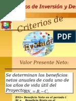 L Criterios de Evaluacion de Proyectos