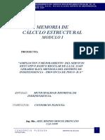 Memoria de Cálculo Modulo I.E.