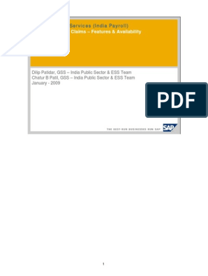 Reimbursement / Claims – Features & Availability: Employee