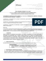 Edital Induzido 012-2016 PAVIMENTAÇAO