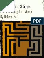 Paz, Octavio - Labyrinth of Solitude (Grove, 1961)