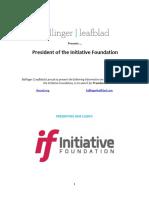 Executive Position Profile - Initiative Foundation - President