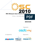 Brochure MSC Malaysia Open Source Conference 2010 (MSC MOSC2010)
