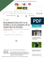Real Madrid 3-2 Sevilla_ Resumen, Goles y Video Del Título Merengue en La Supercopa de Europa _ Depor
