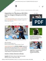 Argentina vs Honduras Hoy en VIVO_ Horarios y Cómo Ver TV ONLINE Por Río 2016 _ Goles _ Depor