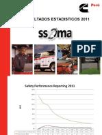 Estadisticas e Indicadores Seguridad SSOMA 2011-2012