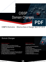 CISSP 8 Domain Refresh Summary Guide 15042015