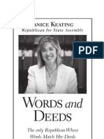 Words and Deeds, Janice Keating