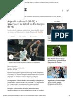 Argentina Derrotó (92-66) a Nigeria en Su Debut en Los Juegos Olímpicos de Río 2016 _ Depor